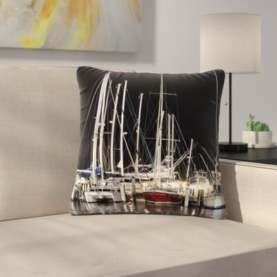 Philip Brown Dinner Key Marina Coastal Outdoor Throw Pillow Size: 16 H x 16 W x 5 D
