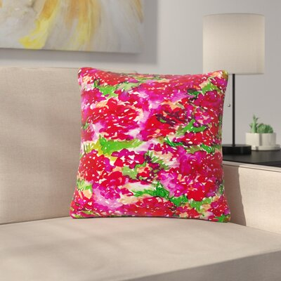 Ebi Emporium Floral Assumption Outdoor Throw Pillow Size: 16 H x 16 W x 5 D