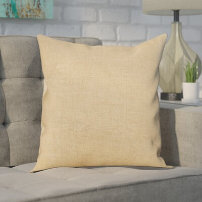 Portsmouth Solid Burlap Throw Pillow Color: Taupe, Size: 18 H x 18 W