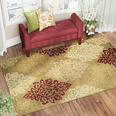 Burbank Brown Area Rug Rug Size: Rectangle 4 x 6