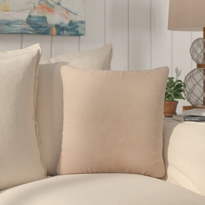 Dugan Soft Suede Throw Pillows Color: Blush