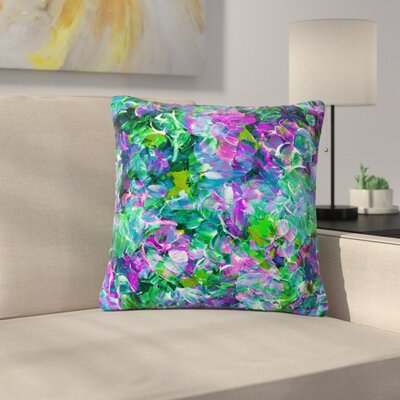 Ebi Emporium Bloom on! Exotic Outdoor Throw Pillow Size: 16 H x 16 W x 5 D