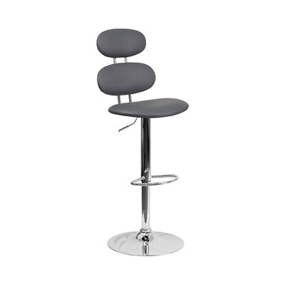 Spade Adjustable Height Swivel Bar Stool Color: Gray