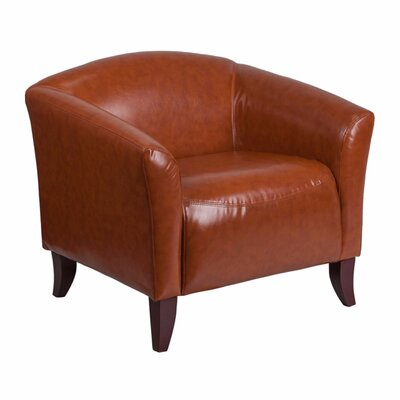 Ash Leather Lounge Chair Seat Color: Cognac