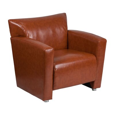 Hercules Majesty Series Lounge Chair Seat Color: Cognac