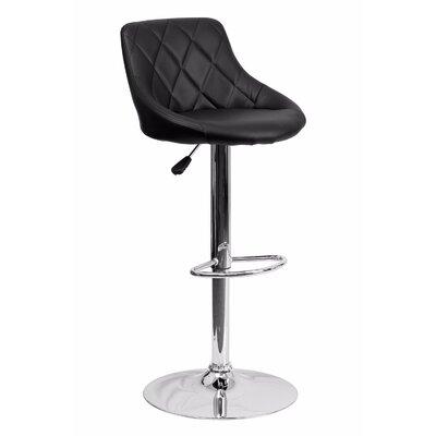 32 Swivel Bar Stool Upholstery: Black