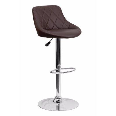 32 Swivel Bar Stool Upholstery: Brown