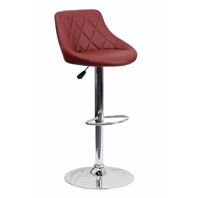 32 Swivel Bar Stool Upholstery: Burgundy