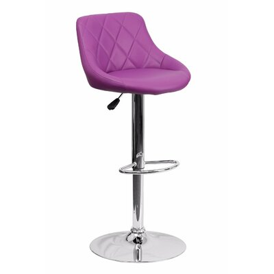 32 Swivel Bar Stool Upholstery: Purple