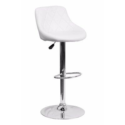 32 Swivel Bar Stool Upholstery: white