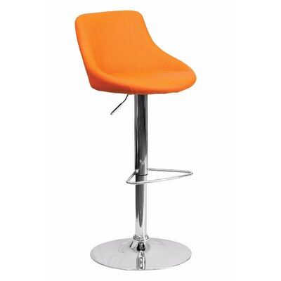 32 Swivel Bar Stool Upholstery: Orange
