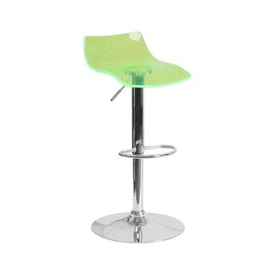 Aguon Adjustable Height Swivel Bar Stool Color: Green