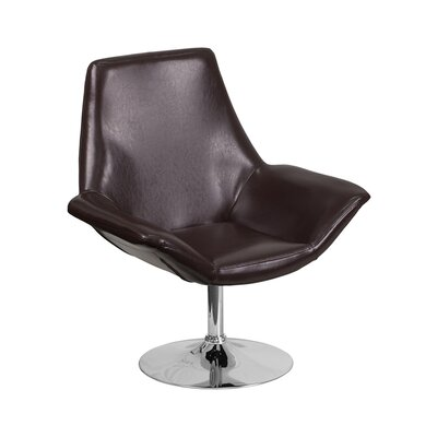 Sigler Leather Guest Chair Seat Color: Brown