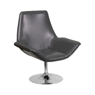 Sigler Leather Guest Chair Seat Color: Gray