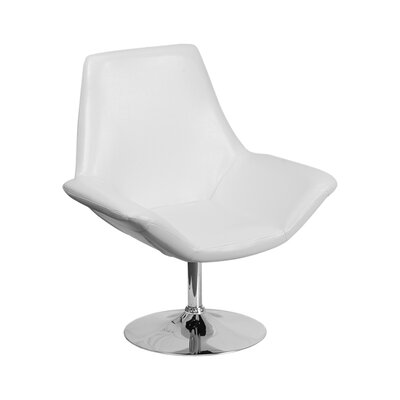 Sigler Leather Guest Chair Seat Color: White
