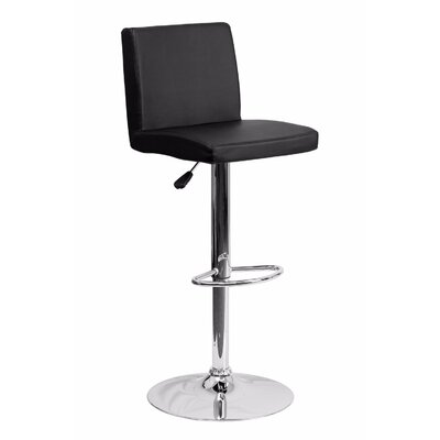 23.75 Swivel Bar Stool Upholstery: Black