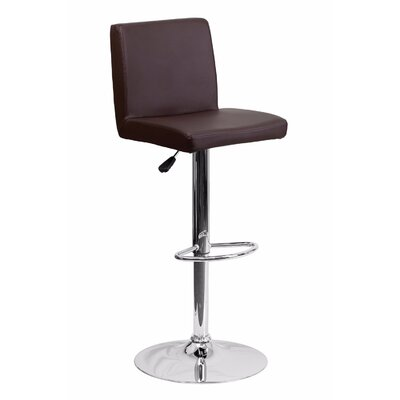 23.75 Swivel Bar Stool Upholstery: Brown