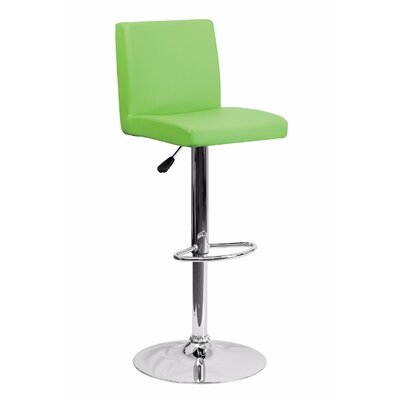 23.75 Swivel Bar Stool Upholstery: Green