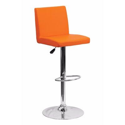 23.75 Swivel Bar Stool Upholstery: Orange