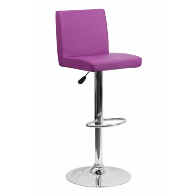 23.75 Swivel Bar Stool Upholstery: Purple