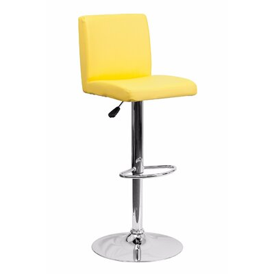23.75 Swivel Bar Stool Upholstery: Yellow