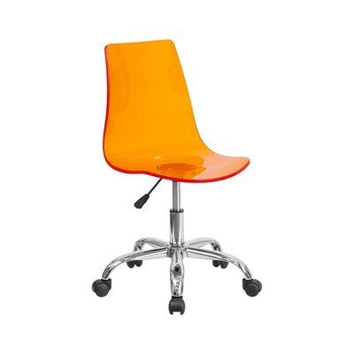 Creasman Transparent Acrylic Office Chair Color: Orange 1AC55365B688484D9D17555F7B6CD809