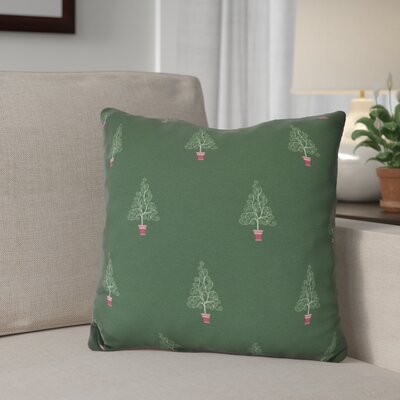 Filigree Forest Outdoor Throw Pillow Size: 18 H x 18 W, Color: Green