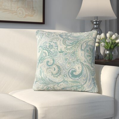 Overshores Paisley Throw Pillow Color: Danube