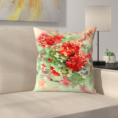 Suren Nersisyan Geranium 1 Throw Pillow Size: 18 x 18