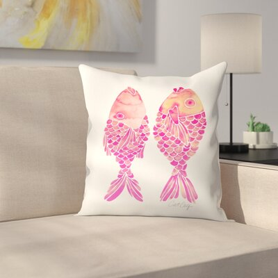Cat Coquillette Indonesian Fish Throw Pillow Size: 16 x 16