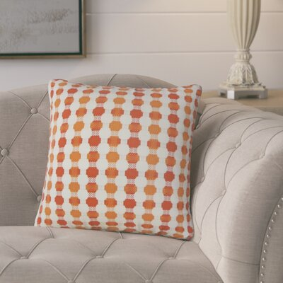 Lussier Geometric Throw Pillow Color: Tangerine