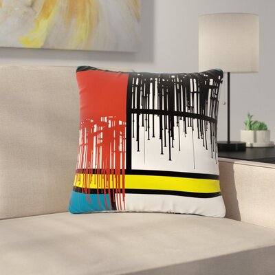 Just L Saint Drips Abstract Outdoor Throw Pillow Size: 16 H x 16 W x 5 D