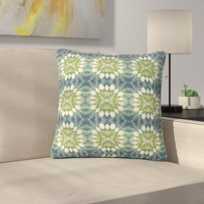 Art Love Passion Forest Leaves Pattern Geometric Outdoor Throw Pillow Size: 18 H x 18 W x 5 D