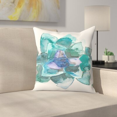 Jetty Printables Watercolor Succulent 2 Throw Pillow Size: 16 x 16