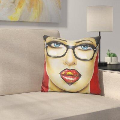 Super Lips Throw Pillow