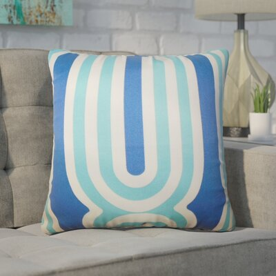 Wojtowicz Geometric Cotton Throw Pillow Color: Blue