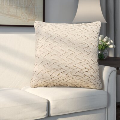 Eastlawn 100% Cotton Throw Pillow Size: 18 H x 18 W x 4 D, Color: Taupe