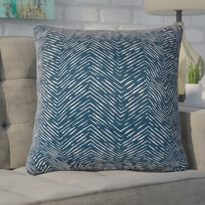 Chidi Outdoor Throw Pillow Fabric: Navy, Size: 20 H x 20 W x 8 D
