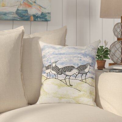 Boubacar Sandpipers Animal Print Throw Pillow Size: 26 H x 26 W, Color: Gray
