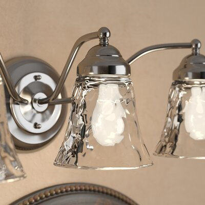 Clear Hammered 5 Glass Bell Pendant Shade