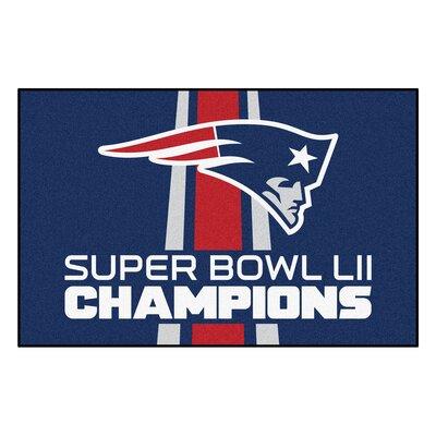 New England Patriots Utility Mat Mat Size: Rectangle 1.58 x 2.5
