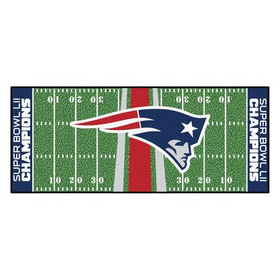 New England Patriots Football Field Runner Utility Mat