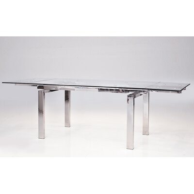 Cantro Extendable Dining Table Finish: Steel