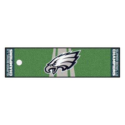 Philadelphia Eagles Utility Mat Mat Size: Runner 1.5 x 6