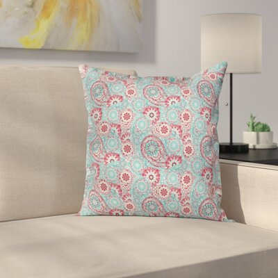 Oriental Spring Flowers Square Pillow Cover Size: 24 x 24
