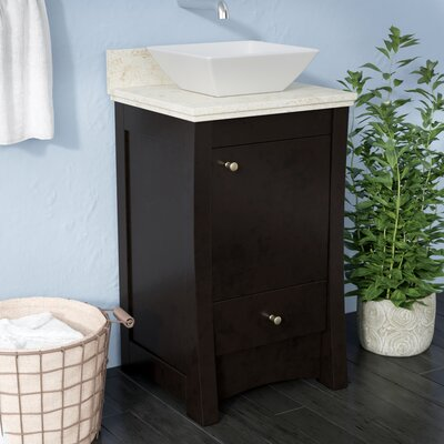 Alburgh 20 Rectangle Single Bathroom Vanity Set Top Finish: Beige