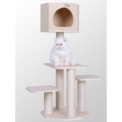 46 Premium Scotch Pine Solid Wood Cat Tree
