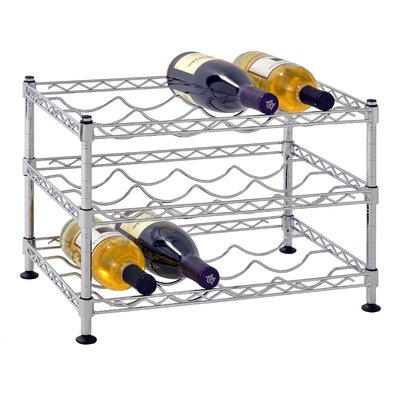 Bilski Wire 12 Bottle Floor Wine Rack