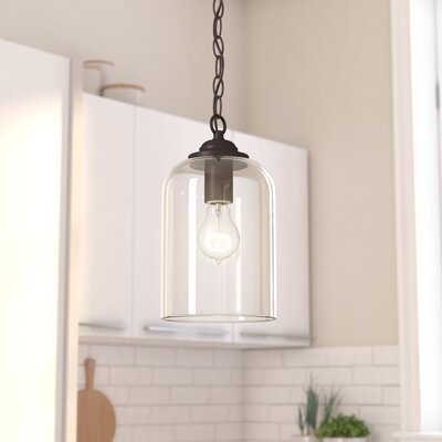 Silber 1-Light Mini Pendant Finish: English Bronze/Clear Glass