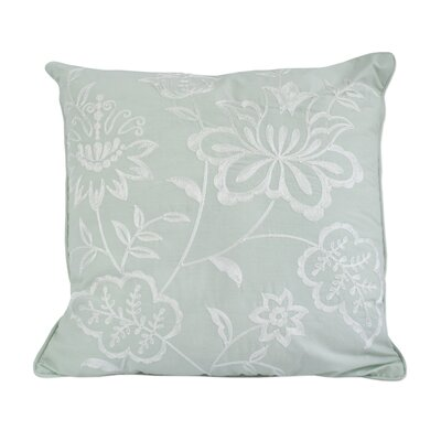 Josefien Square Decorative Cotton Throw Pillow Color: Green